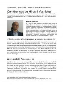 Conférence Hiroshi 2018 Paris 8