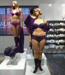 mannequins de taille normale chez H&M
